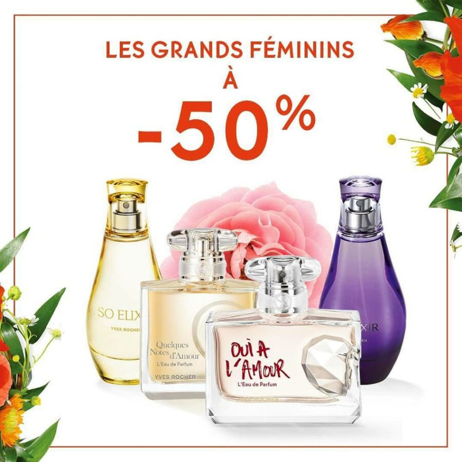 Soldes chez Yves Rocher Jusqu'à -50% sur l'univers parfums Jusqu'au 10 Août 2020