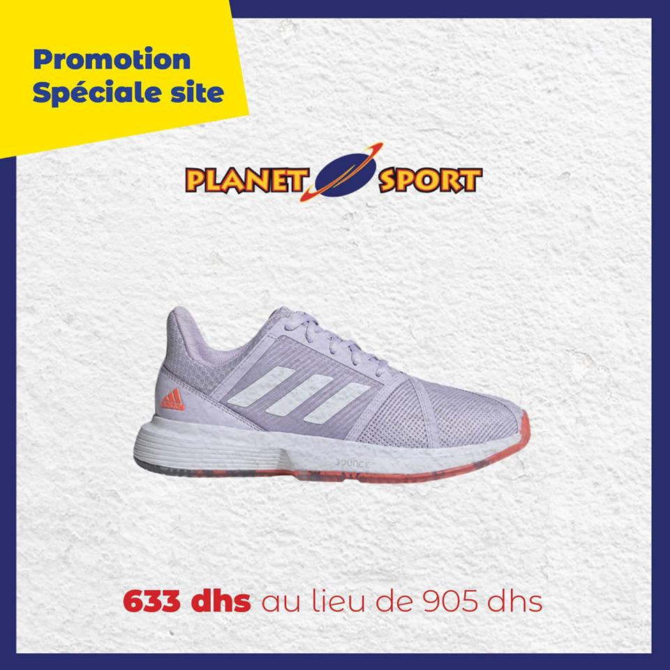 Promo Spéciale en ligne chez Planet Sport Chaussure Adidas 633Dhs au lieu de 905Dhs