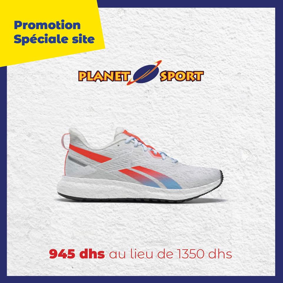 Promo Spéciale en ligne chez Planet Sport Chaussure Reebok 945Dhs au lieu de 1350Dhs