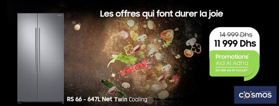 Offre Aid Al Adha Cosmos Réfrigérateur NET TWIN COOLING SAMSUNG 11999Dhs au lieu de 14999Dhs