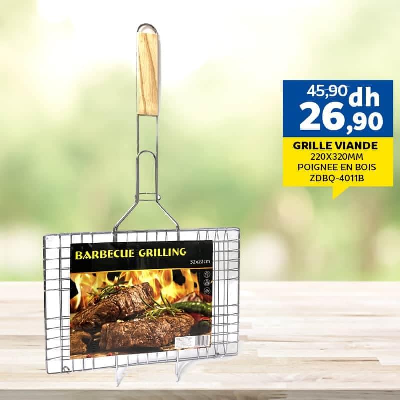 Offre Spécial chez Marjane Grille viande poignée en bois 26.90Dhs au lieu de 25.90Dhs