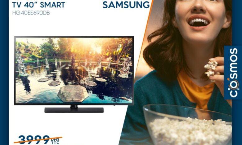 Photo of Déstockage chez Cosmos Electro Smart TV 40° SAMSUNG 2990Dhs au lieu de 3999Dhs