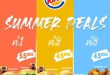 Offre Summer Deals chez Burger King du 26 Août au 13 Septembre 2020