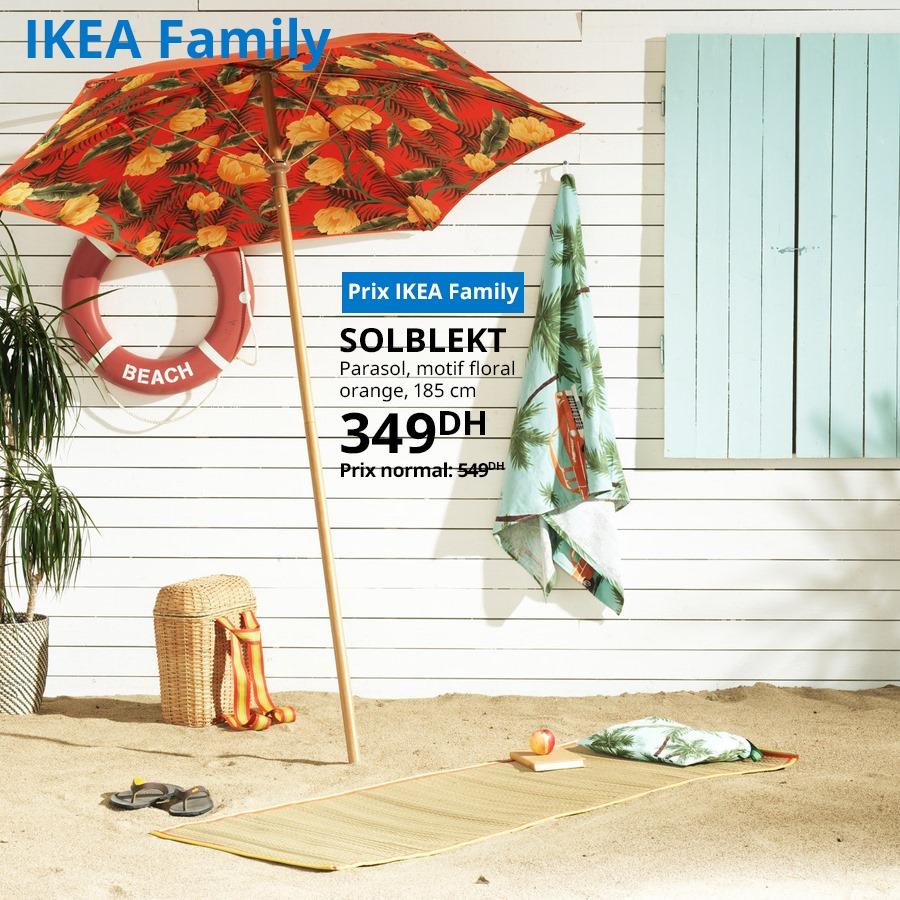 Soldes Ikea Family Parasol motif floral SOLBLEKT 349Dhs au lieu de 549Dhs