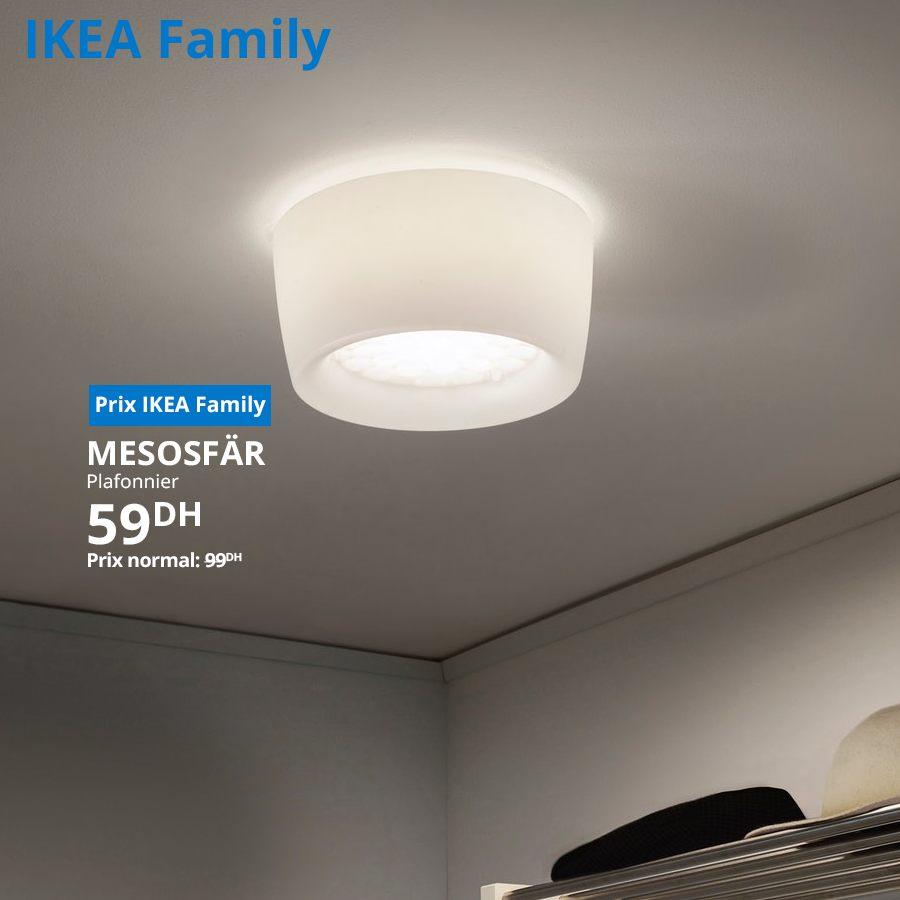 Promo Ikea Family Plafonnier MESOSFAR à 59Dhs au lieu de 99Dhs