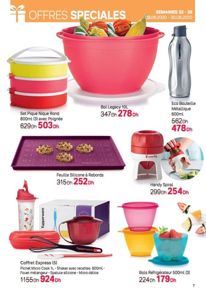 Catalogue Tupperware Maroc Offres Spéciales du 3 au 30 Août 2020