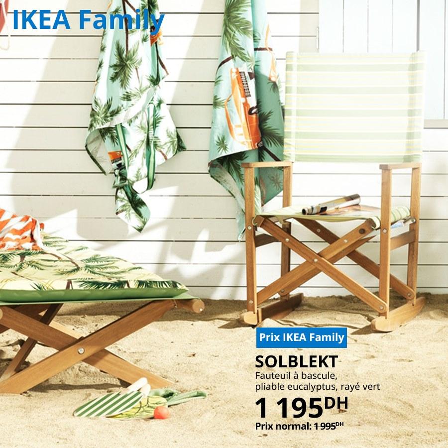 Soldes Ikea Family Fauteuil à bascule SOLBLEKT 1195Dhs au lieu de 1995Dhs