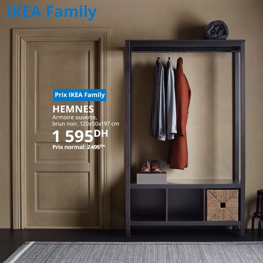 Soldes Ikea Family Armoire ouverte HEMNES 1595Dhs au lieu de 2495Dhs