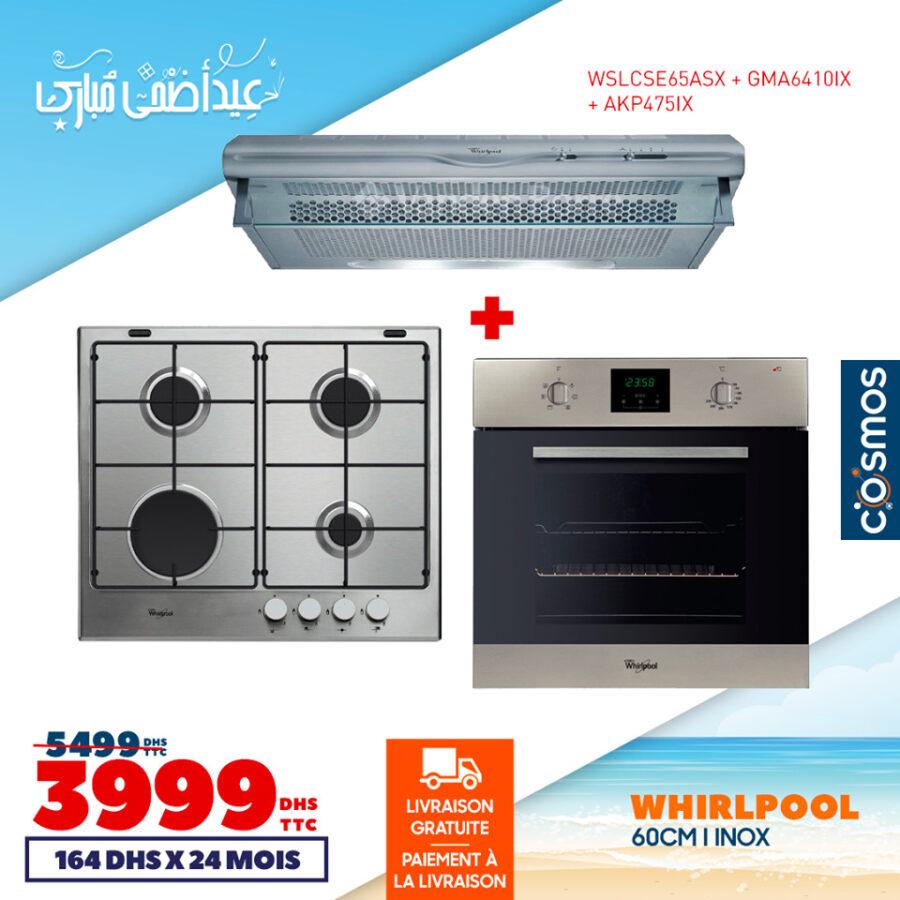 Soldes Cosmos Electro Trio de cuisine Whirlpool 3999Dhs au lieu de 5499Dhs
