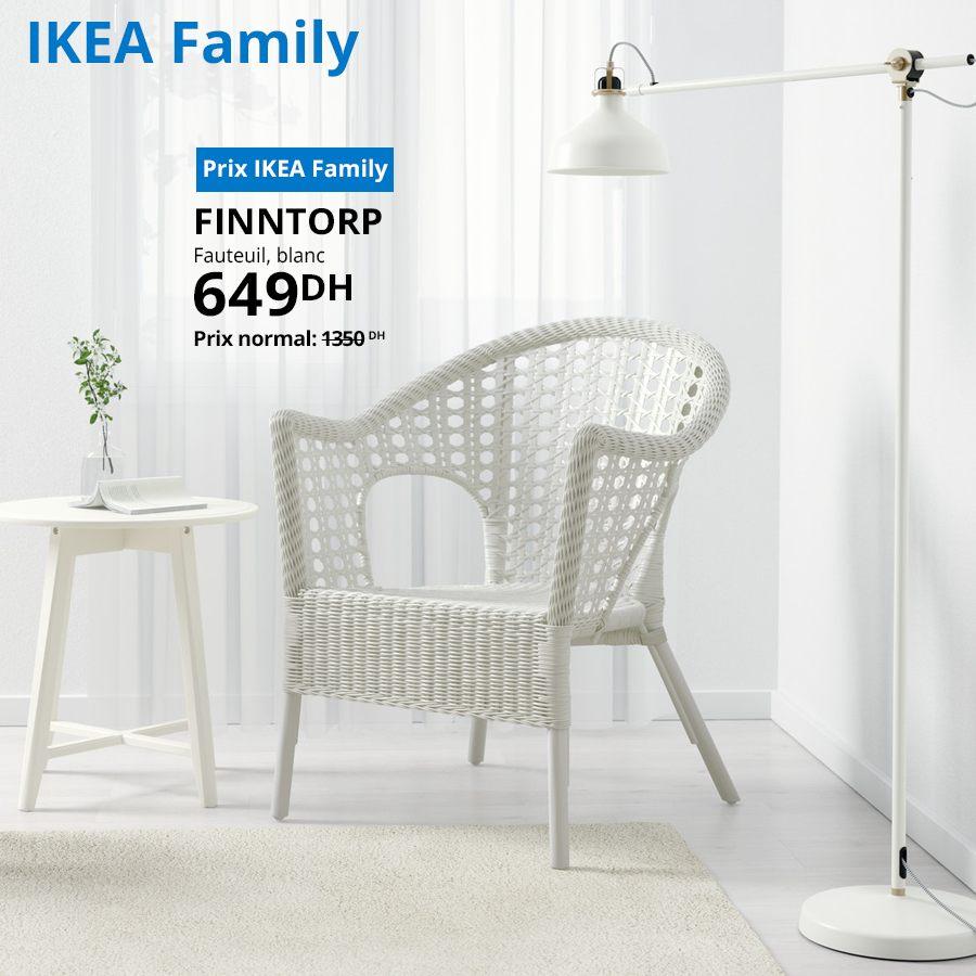 Soldes Ikea Family Fauteuil blanc FINNTORP 649Dhs au lieu de 1350Dhs