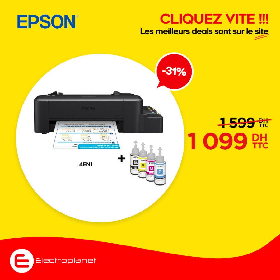 Promo chez Electroplanet Imprimante multifonction EPSON L210 1099Dhs au lieu de 1599Dhs