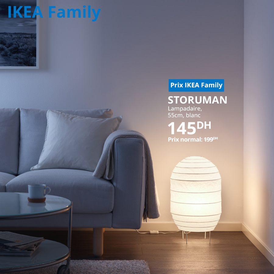 Promo Ikea Family Lampadaire 55cm blanc STORUMAN à 145Dhs au lieu de 199Dhs