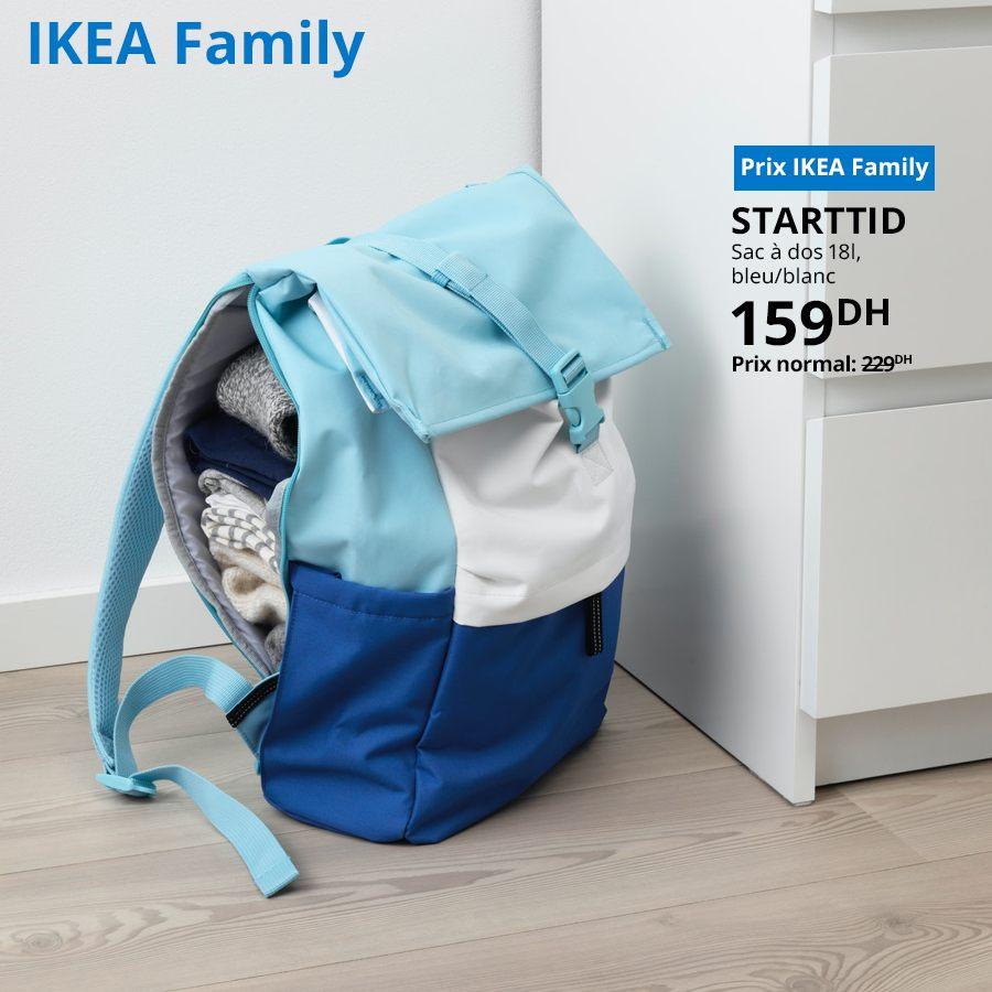Soldes Ikea Family Sac à dos 18L STARTTID 159Dhs au lieu de 229Dhs