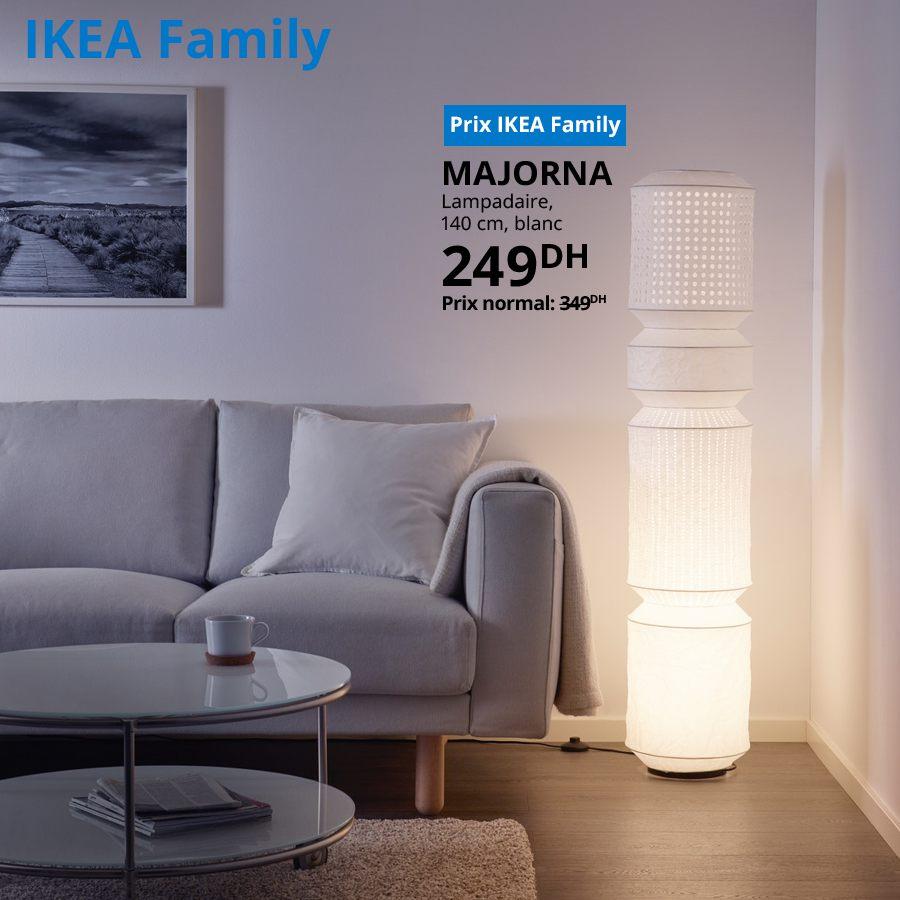 Soldes Ikea Family Lampadaire blanc MAJORNA 249Dhs au lieu de 349Dhs
