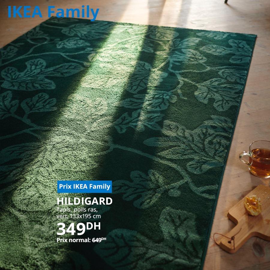 Soldes Ikea Family Tapis vers 133x195cm HILDIGARD 349Dhs au lieu de 649Dhs