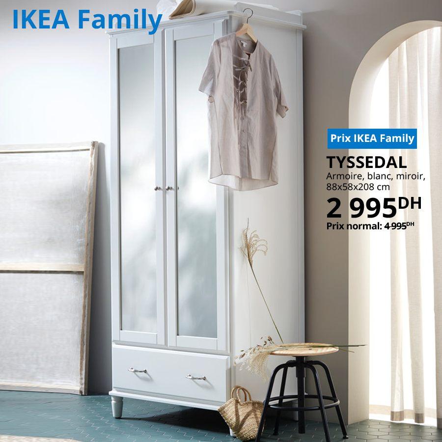 Soldes Ikea Family Armoire blanc TYSSEDAL 2995Dhs au lieu de 4995Dhs