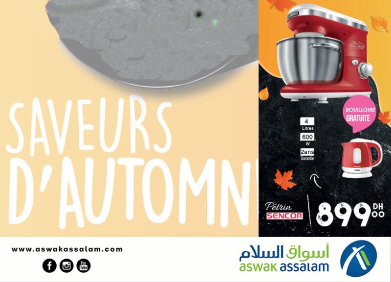 Soldes chez Aswak Assalam Pétrin SENCOR + Bouilloire à 899Dhs