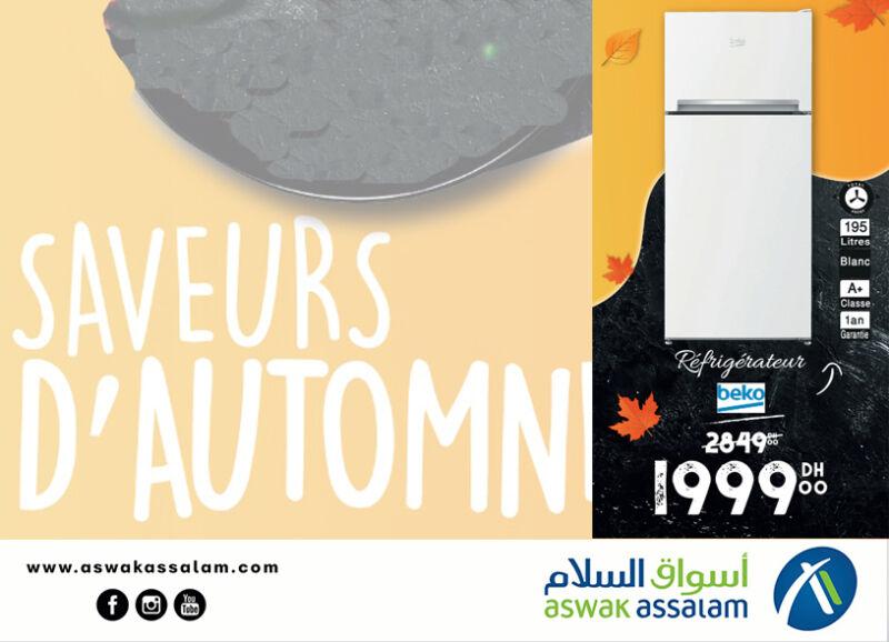 Soldes Aswak Assalam Réfrigérateur BEKO 1999Dhs au lieu de 2849Dhs