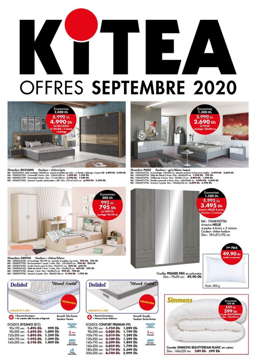 Flyer des Offres de Septembre 2020 chez Kitea