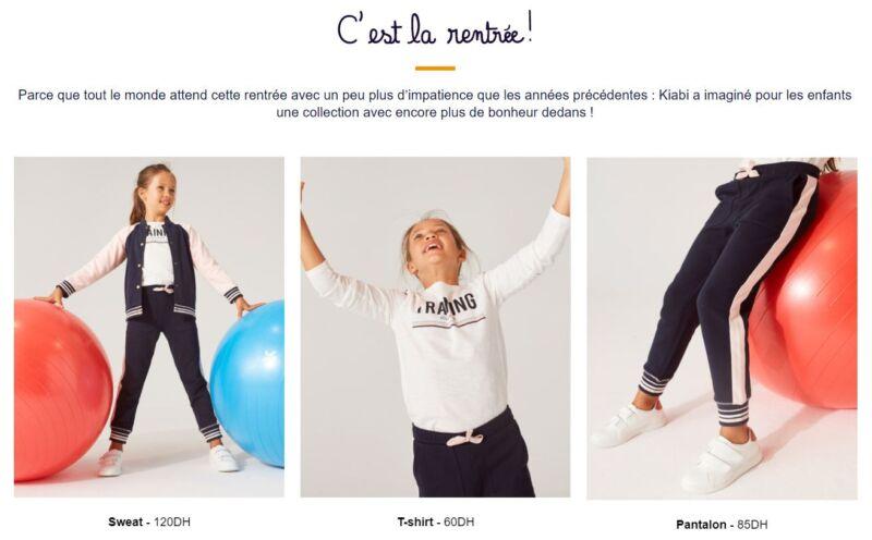 Catalogue Kiabi Maroc Nouvelle collection enfant du 16 au 29 Septembre 2020