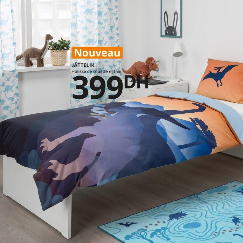Nouvelle Collection Ikea Maroc Housse de couette et taie JATTELIK à 399Dhs
