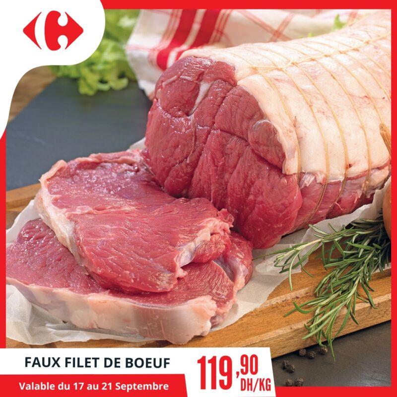 Offre Spécial Viande de Bœuf chez Carrefour Market Maroc du 17 au 21 Septembre 2020