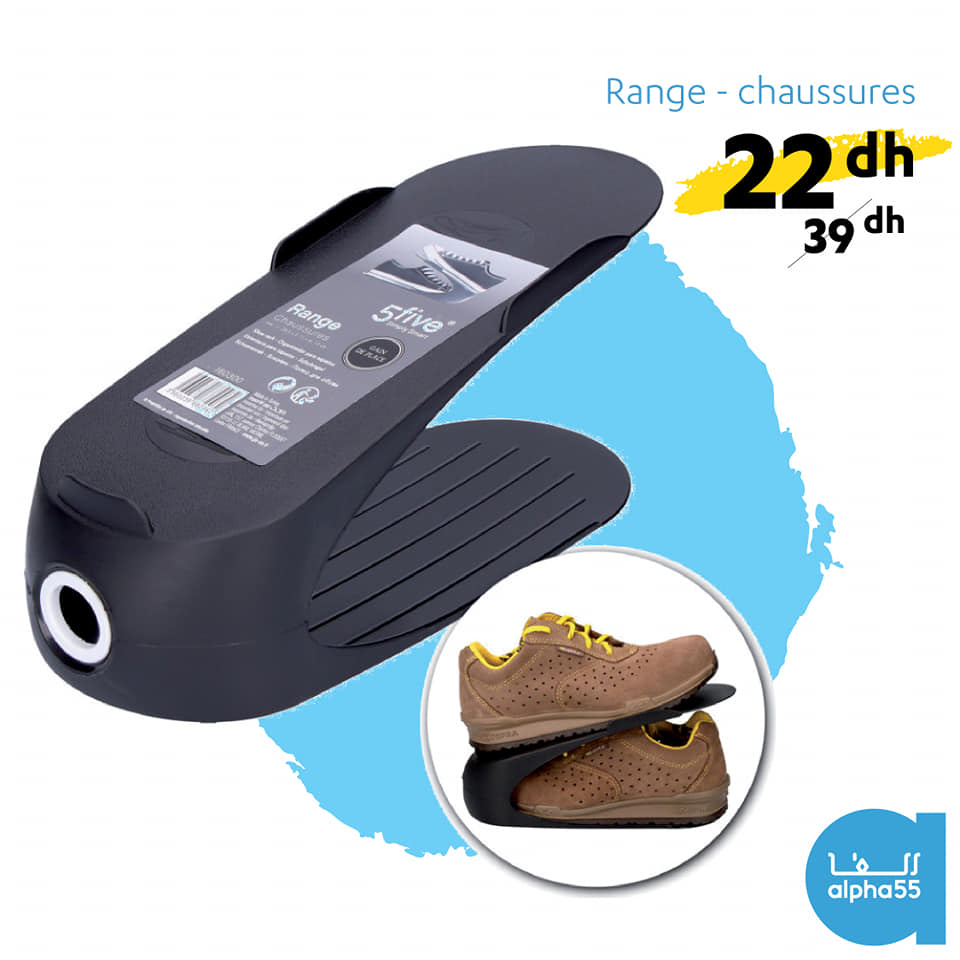Offre Promotionnel Alpha55 Range-chaussures 22Dhs au lieu de 39Dhs