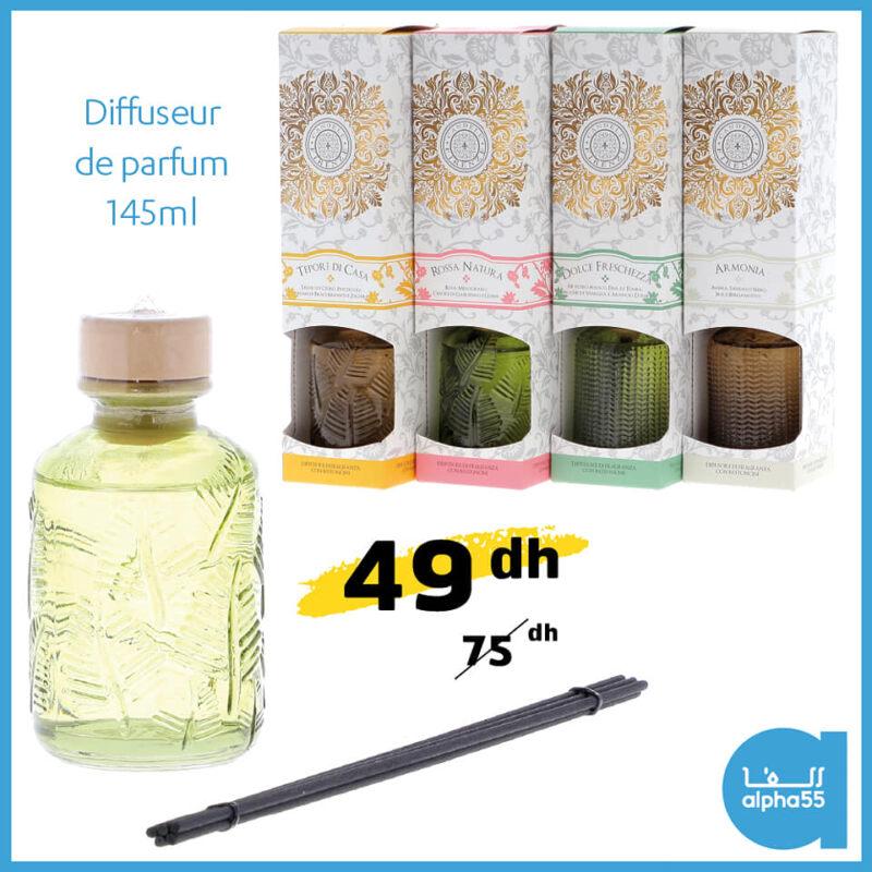 Soldes chez Alpha55 Diffuseur de parfum 145ml 49Dhs au lieu de 75Dhs
