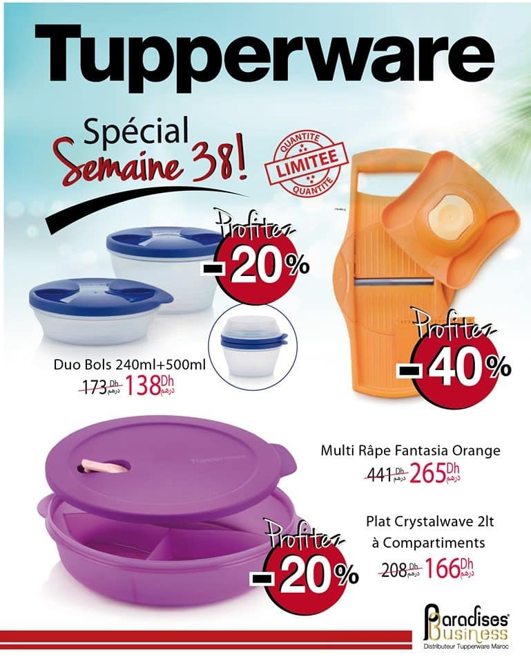 Catalogue Tupperware Maroc Spéciale Semaine 38 Jusqu'au 20 Septembre 2020