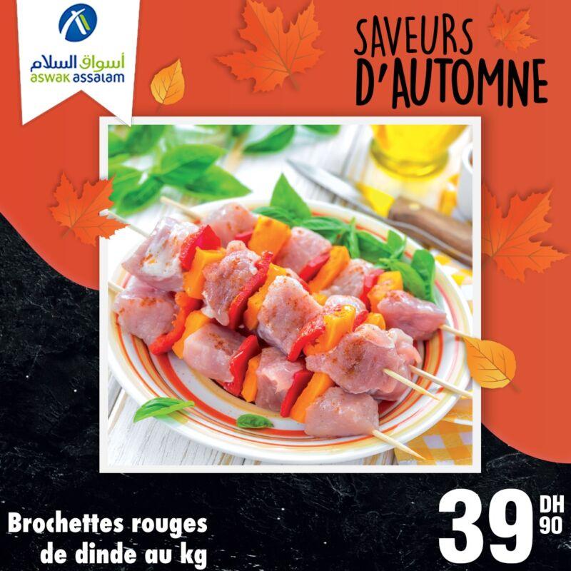 Offres Saveur d'automne chez Aswak Assalam Frées & Viandes