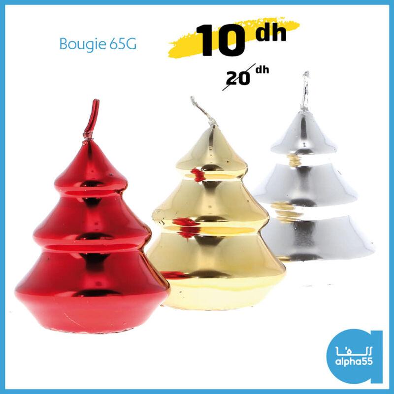 Soldes chez Alpha55 Bougie 65g divers coloris 10Dhs au lieu de 20Dhs