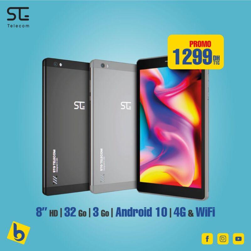 Promo Rentrée Scolaire Electro Bousfiha Tablette 8° STG  à 1299Dhs