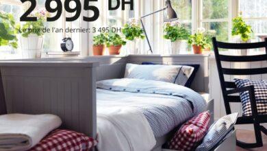 Photo de Soldes Ikea Maroc Lit banquette 2 places HEMNES 2995Dhs au lieu de 3495Dhs