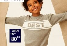 Soldes chez Kiabi Maroc Sweat pour garçon 80Dhs au lieu de 120Dhs