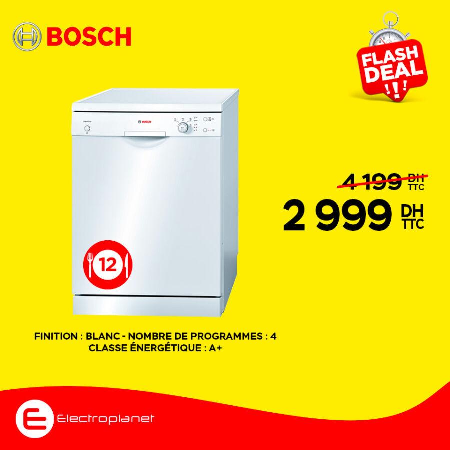 Flash DEAL Electroplanet Lave-vaisselle BOSCH 2999Dhs au lieu de 4199Dhs