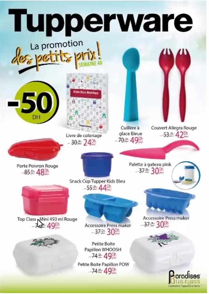 Catalogue Tupperware Maroc La Promotion des petits prix Semaine 40