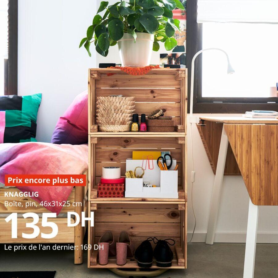 Prix encore plus bas Ikea Maroc Boîte pin KNAGGLIG 135Dhs au lieu de 169Dhs