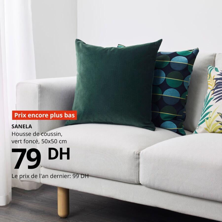 Soldes chez Ikea Maroc Housse de coussin SANELA 79Dhs au lieu de 99Dhs