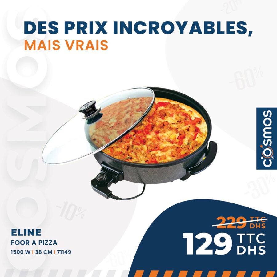 Soldes Cosmos Electro Four à pizza ELINE 1500w 129Dhs au lieu de 229Dhs