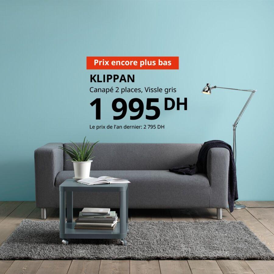 Prix Encore plus bas Ikea Maroc Canapé 2 places KLIPAN 1995Dhs au lieu de 2795Dhs