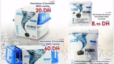 Offre chez Bricoma Absorbeurs d'humidité divers solutions à partir du 8.90Dhs