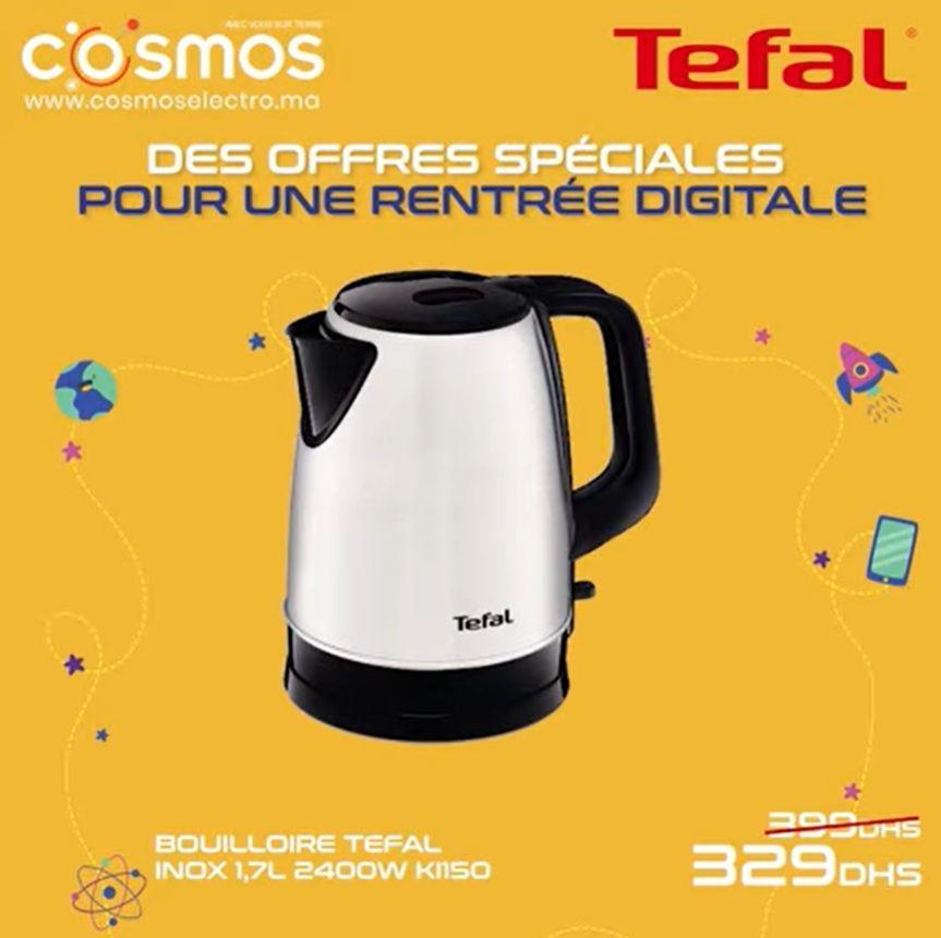 Promo Cosmos Electro Bouilloire 1.7L TEFAL 329Dhs au lieu de 390Dhs