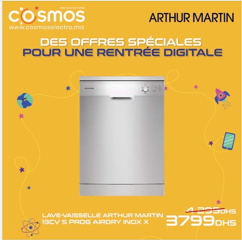 Promo Cosmos Electro Lave-vaisselle ARTHUR MARTIN 3799Dhs au lieu de 4299Dhs