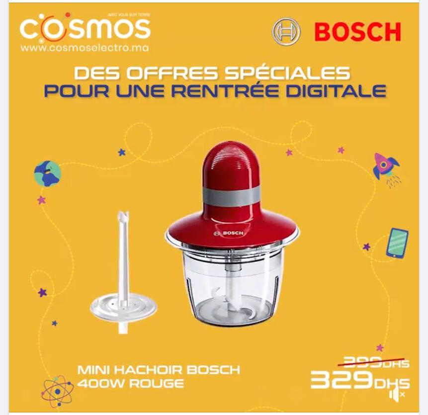 Offre Spécial Cosmos Electro Mini hachoir BOSCH 329Dhs au lieu de 399Dhs