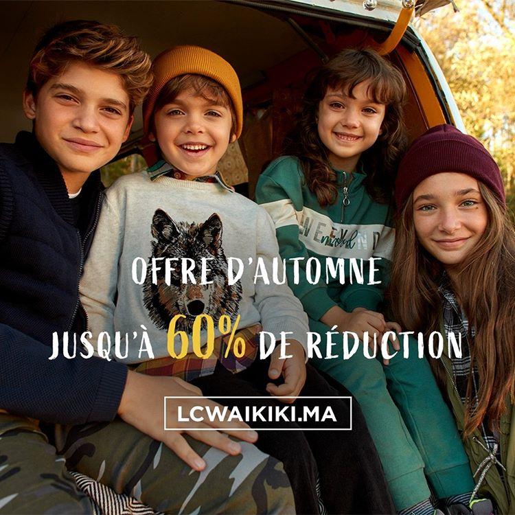 Offre d'automne chez LC Waikiki Maroc Jusqu'à 60% de réduction
