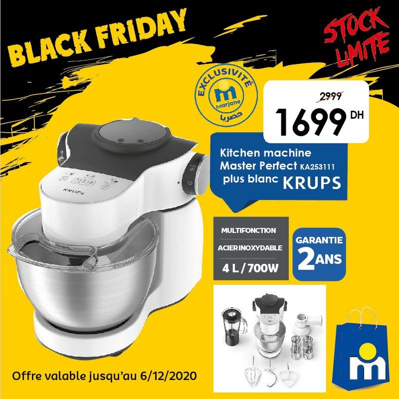 Black Friday Marjane Kitchen machine Multifonction KRUPS 1699Dhs au lieu de 2999Dhs