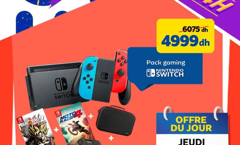 Vente Flash Aujourd'hui Seulement Pack Gaming NINTENDO SWITCH