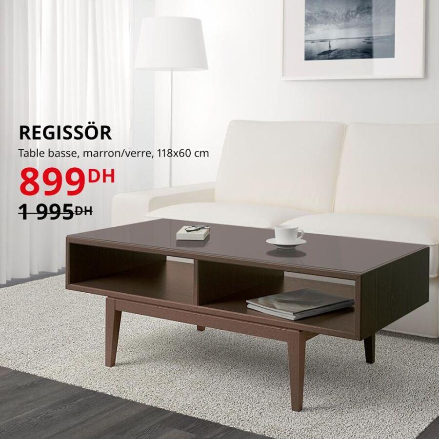 Soldes Ikea Maroc Table basse REGISSOR 899Dhs au lieu de 1995Dhs