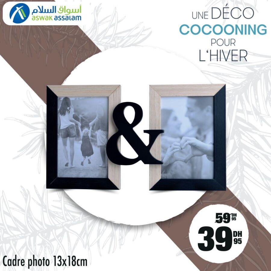 Promo chez Aswak Assalam Cadre photo 13x18cm 40Dhs au lieu de 60Dhs
