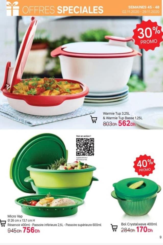 Catalogue Tupperware Maroc Offre Spéciales du 2 au 29 Novembre 2020